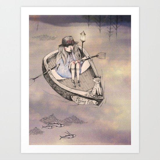 flying fith Art Print
