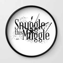 Snuggle this Muggle Wall Clock