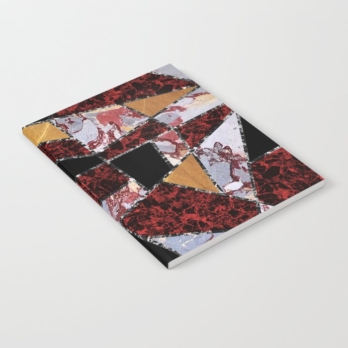 Abstract #459 Stone and Metal Shards Notebook