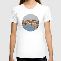 boats T-shirts featuring Docked Boats  by Chris Klemens