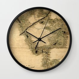 Map Of Quebec 1761 Wall Clock