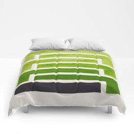 Olive Green Inca Braid Minimalist Geometric Pattern Mid Century Modern Watercolor Painting Comforters