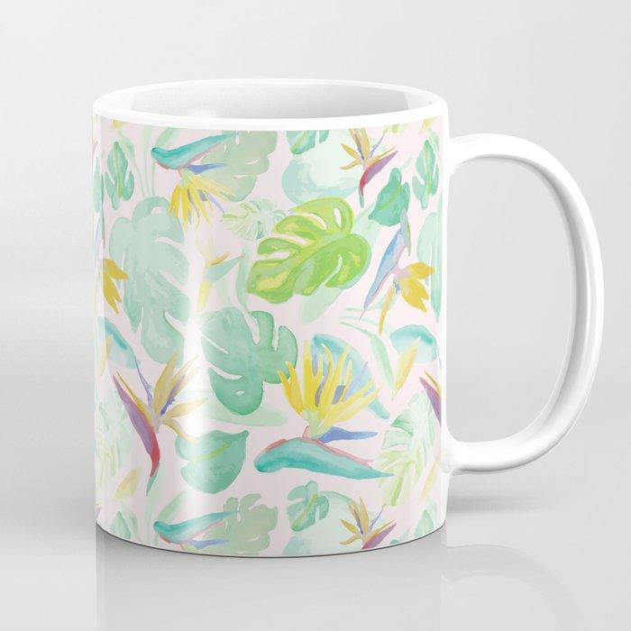 Birds of Paradise Pattern Coffee Mug