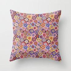 Millefiori-Sunset colorway Throw Pillow