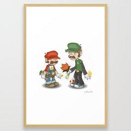 Bros. Framed Art Print