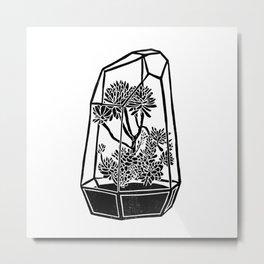 Terrarium Block Print Metal Print