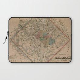 Vintage Washington DC Civil War Defenses Map (1864) Laptop Sleeve