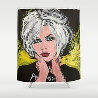 blondie Shower Curtains featuring Blondie by Matt Pecson