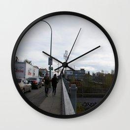 East Van Cross and bridge Wall Clock