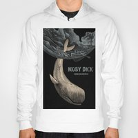 moby dick Hoodies featuring Moby by Alex Stubbs