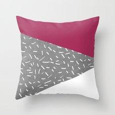 Concrete & Lines Throw Pillow