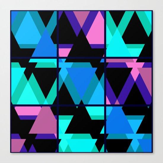 Colorful triangles . No. 1 Canvas Print