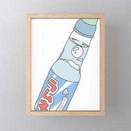 Kawaii Ramune Soda Drink Framed Mini Art Print