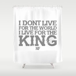 NF MUSIC QUOTES Shower Curtain