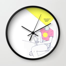 Missing Parts Wall Clock