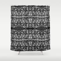 moto Shower Curtains featuring Moto Mania by Robbie Kaye