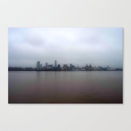 The Other side of the Mersey Canvas Print