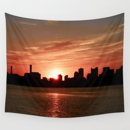 Boston Sunset Wall Tapestry
