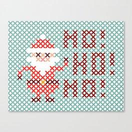 Stitched Santa X Canvas Print
