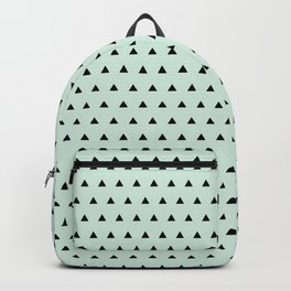 Black triangel in mint blue background Backpack