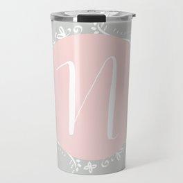 Garland Initial N - Grey Travel Mug