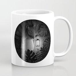 Tapirs are night creatures   Black and White Illustration Coffee Mug
