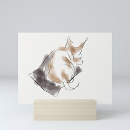 Puppy Lovers- pit bull puppy in watercolor Mini Art Print