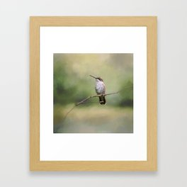 Tiny Visitor Framed Art Print