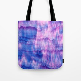 Modern Abstract Electric Blue Pink Watercolor Ikat Tote Bag