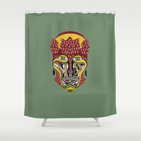 african Shower Curtains featuring African King by Sandyshow