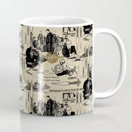 Murder on the Orient Express (Agatha Christie) Toile de Jouy Coffee Mug