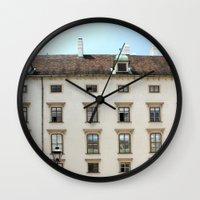 vienna Wall Clocks featuring Vienna  by Blake Hemm