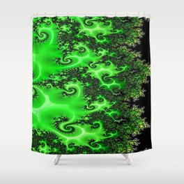 Green Lace Shower Curtain