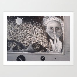 Moon Lady Art Print