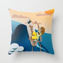 Surfer 18 Throw Pillow