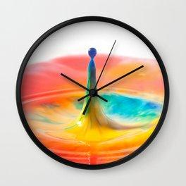 Colour Spash Wall Clock