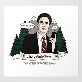 Twin Peaks (David Lynch) Agent Dale Cooper Art Print