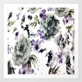 Kwan Yin Roses Art Print