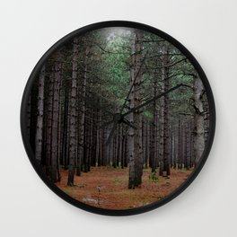 Endless Pines Wall Clock