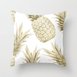 Gold Pineapple Party Throw Pillow