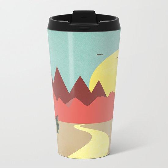 Desert and mountains Metal Travel Mug