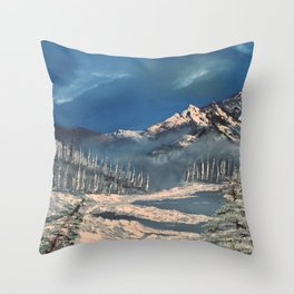 Ice Fields - winter day Throw Pillow