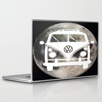 volkswagon Laptop & iPad Skins featuring Moon Wagon by Isaak_Rodriguez