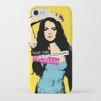 lindsay lohan iPhone & iPod Cases featuring Problem / Lindsay Lohan by Justified