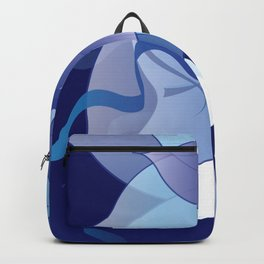 The Lady in Blue Backpack