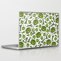 vegetables Laptop & iPad Skins featuring Green Vegetables by Alisa Galitsyna
