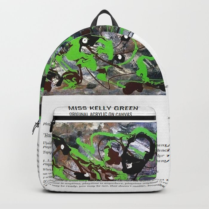 Miss Kelly Green / Art Stories Backpack