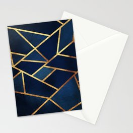 Navy Gold Stone Geometric Stationery Cards
