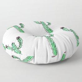 Cactus Flower II Pattern Floor Pillow