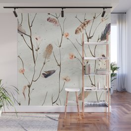Feather Tree Wall Mural
